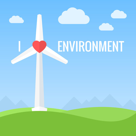 turbines: Wind turbines. Conceptual love environment design