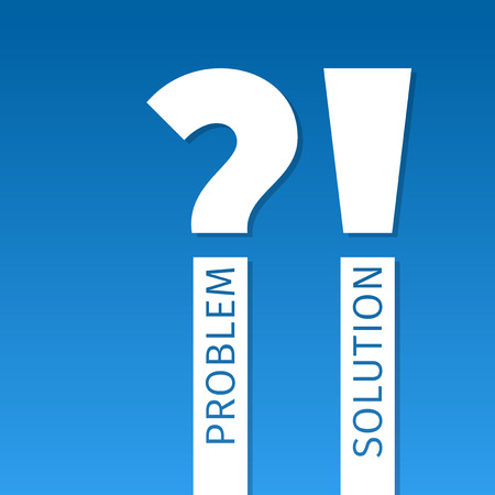 Problem and solution. Punctuation marks Vector
