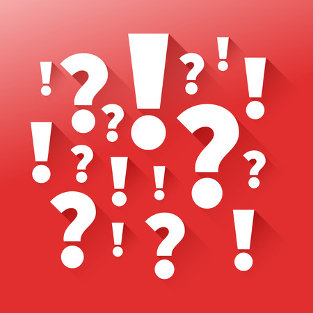 Question and answers. Punctuation marks