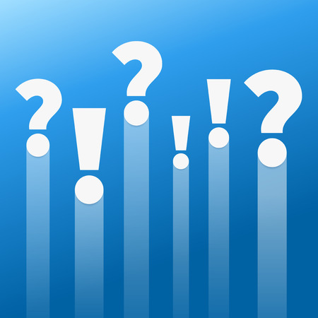 Question and answers. Punctuation marks Vector