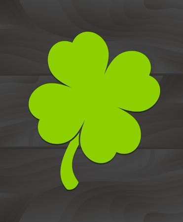 four leaf: D�a de San Patricio. Tr�bol de cuatro hojas