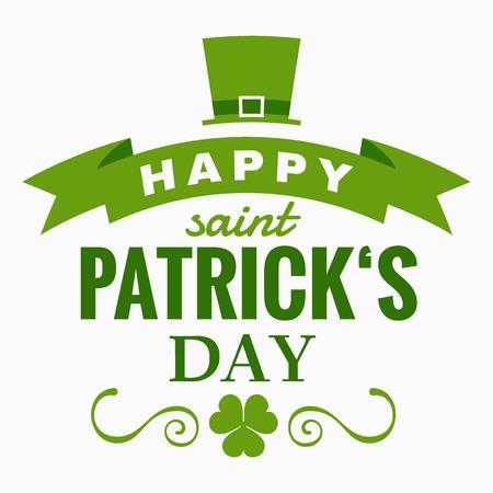 聖 Patrick の日 - タイポグラフィ デザイン