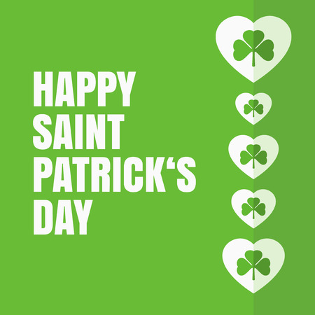 saint: Saint Patricks day - heart design Illustration