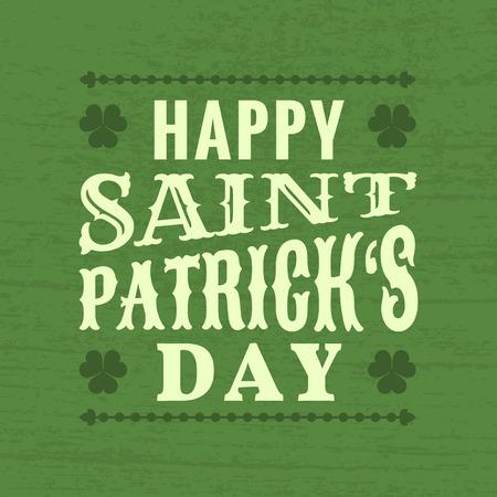 サン Patrick の日 - タイポグラフィ デザイン