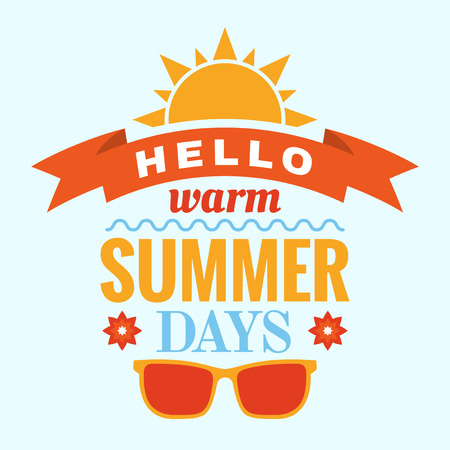 Summer typography graphic, poster design Vector