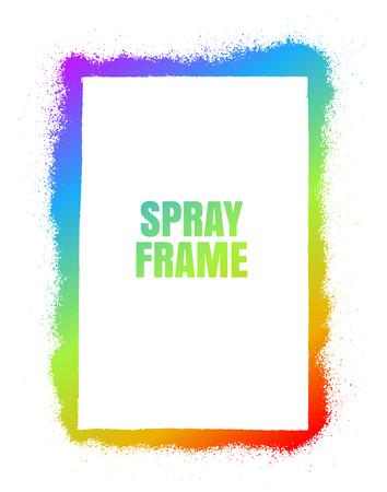Frame Spray texture rainbow color