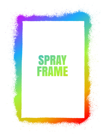 Frame Spray texture rainbow color