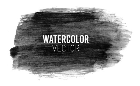 paper art: Painted watercolor background stain, black color Illustration