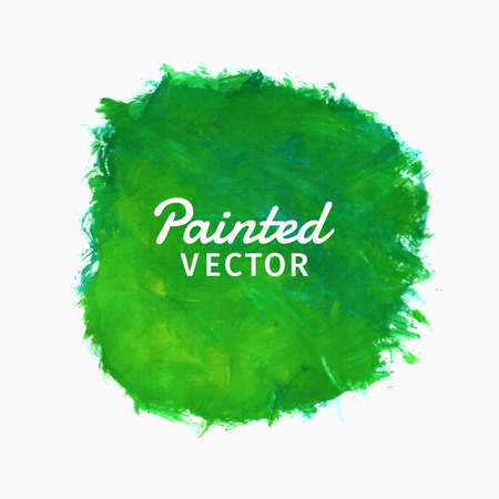 paper art: Painted watercolor background stain, green color