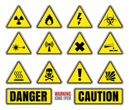 Danger symbols set Vector
