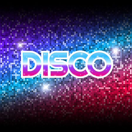 disco symbol: Mirror disco ball texture background