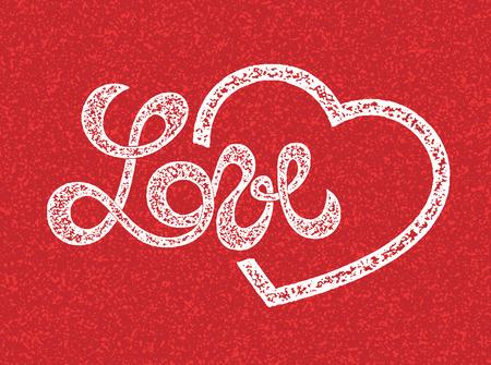 love letter: Love lettering, heart symbol