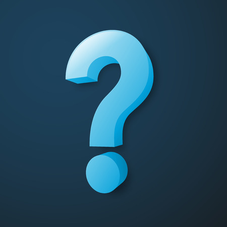 answer: Blue Question Mark on dark blue background Illustration