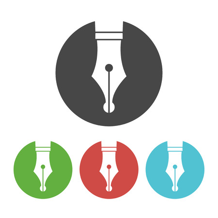 fountains: Fountain pen icon, vector symbol