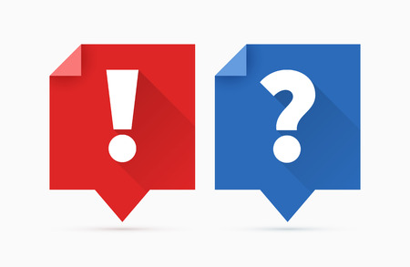 Question and answers icon, flat design