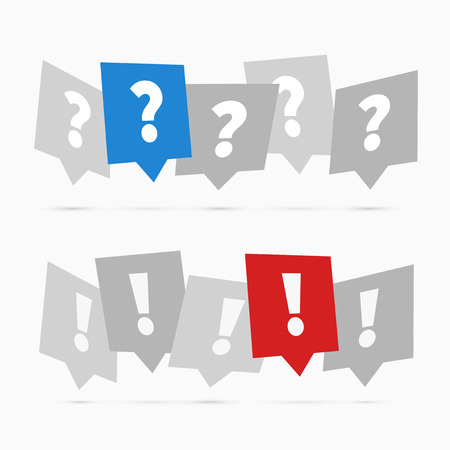 question: Question and answers icons, flat design