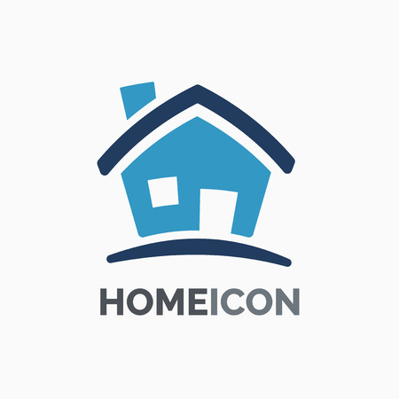 house logo: House icon , graphic design template logo idea