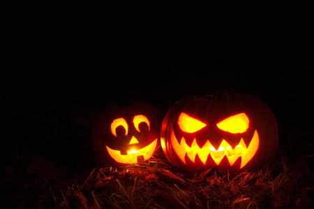 jack'o'lantern: Halloween pumpkin lantern , Jack-o-lantern Stock Photo