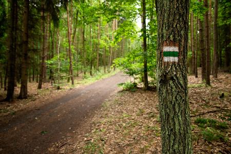 czech republic: Czech outdoor tourism mark Stock Photo