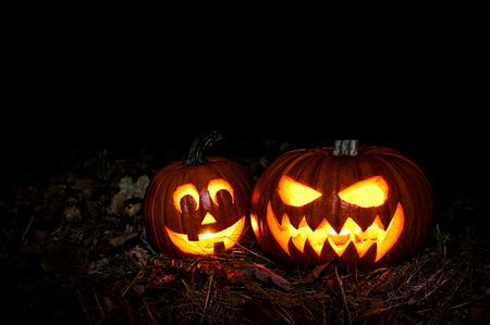 Zucca di Halloween lanterna, Jack-o'-lantern Archivio Fotografico - 45016866