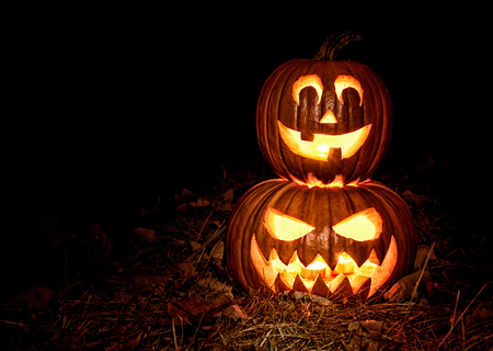 halloween pumpkin: Halloween pumpkin lantern , Jack-o-lantern Stock Photo
