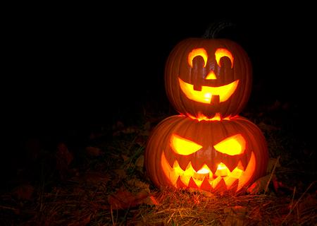 Halloween-Kürbislaterne, Jack-o 'Laterne Standard-Bild