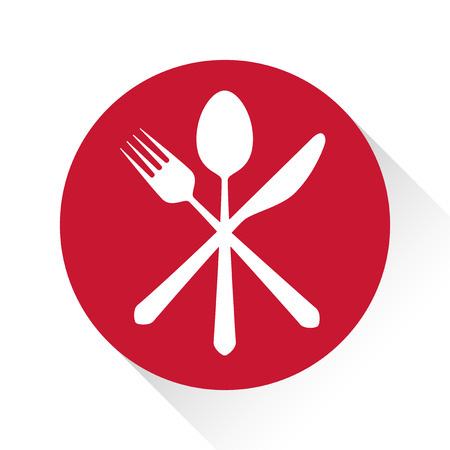 Gastronomy - Restaurant symbol, fork, knife and spoon, logo template