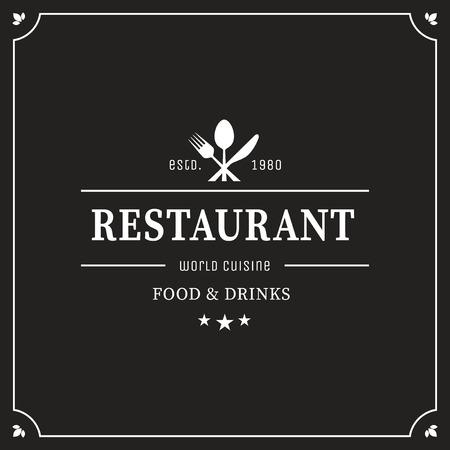 Restaurant grafisch ontwerp logo template, vintage insignia
