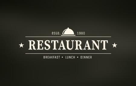 Restaurant graphic design logo template, vintage insignia Ilustracja