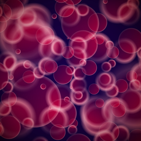 corpuscles: Abstract red bubbles, cells