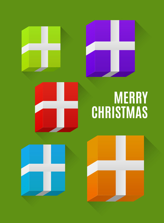 greeting christmas: Christmas greeting card, 3d gifts