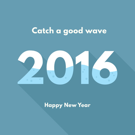 good: New year 2016 - good wave Illustration