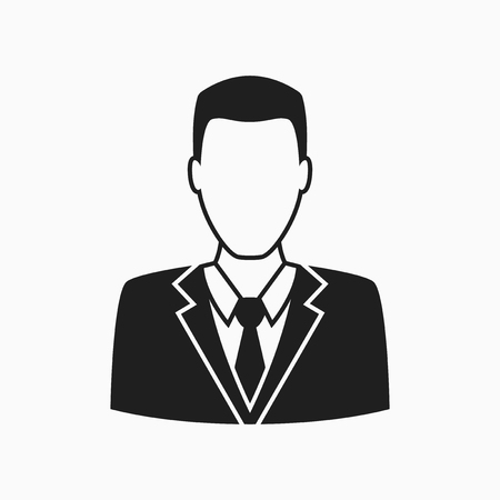business symbol: Man in business suit icon, vector symbol