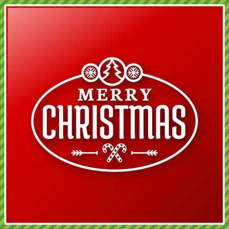 merrychristmas: Seasons Greetings label, Merry Christmas card Illustration
