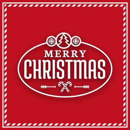 greetings card: Seasons Greetings label, Merry Christmas card Illustration