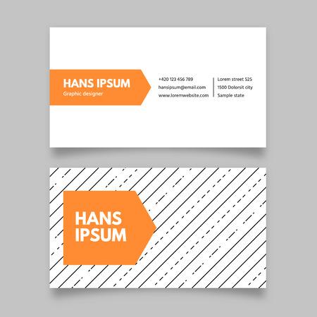 contact information: Business card template, modern flat design Illustration