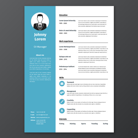 2,253 Resume Template Cliparts, Stock Vector And Royalty Free ...