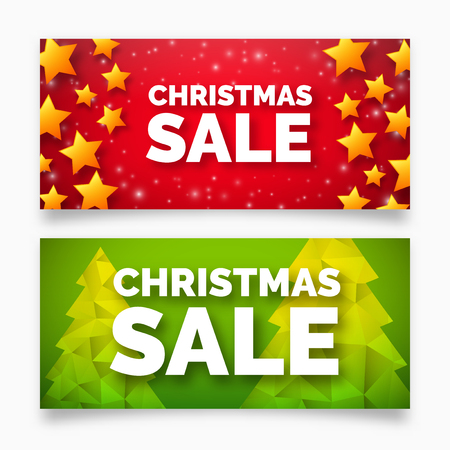 red and gold: Christmas sale banner