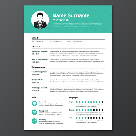 business profiles: CV resume template