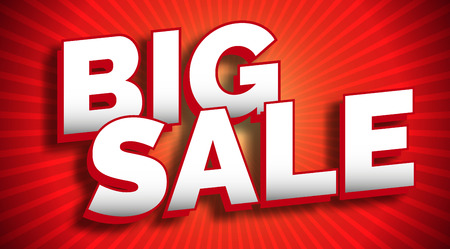 Big sale banner design Vectores
