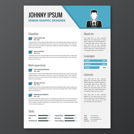 CV 履歴書テンプレート  イラスト・ベクター素材
