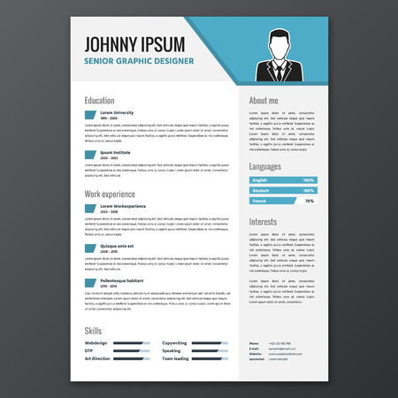 curriculum: CV resume template