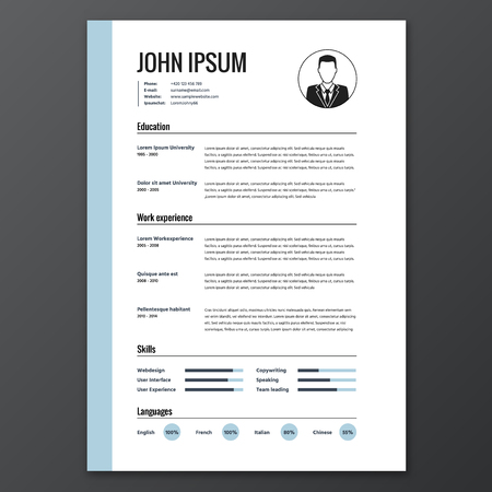 text: CV resume template