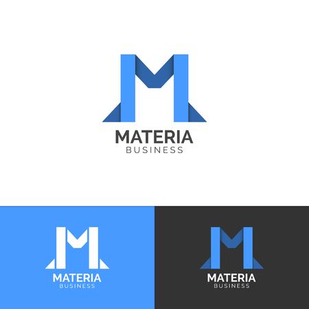 Letter M logo template symbol, vector graphic design Vectores