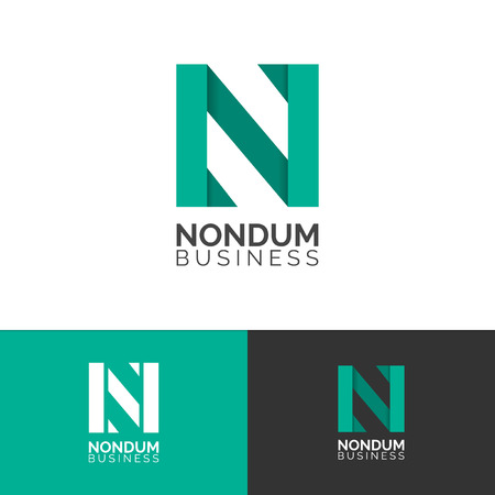 Letter N logo template symbol, vector graphic design