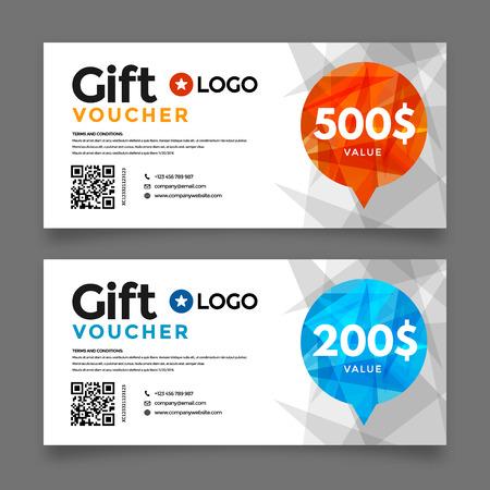 Cadeaubon sjabloon, premium certificaat coupon, vector grafisch ontwerp