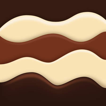 Chocolate waves background, three kind of chocolates