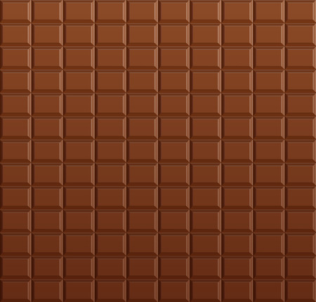 Chocolate background, vector chocolate bar Stock Illustratie