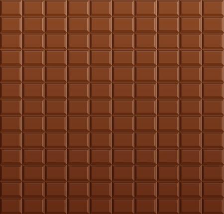 Chocolate background, vector chocolate bar Stock Illustratie