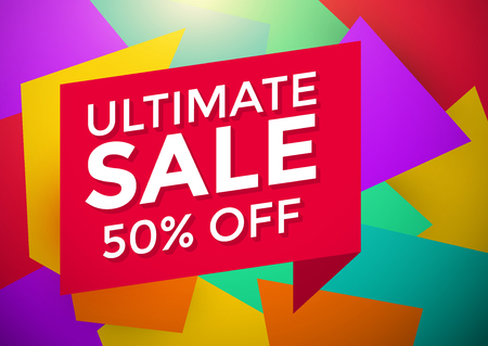ultimate: Ultimate sale banner design, vector illustration